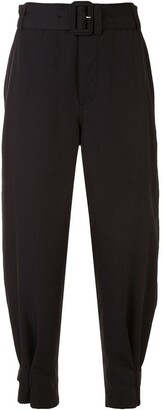 Proenza Schouler White Label Belted High-Waist Trousers
