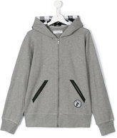 John Galliano zip-up hooded sweatshirt - kids - Cotton/Polyurethane - 16 yrs