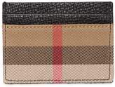 Burberry Check Canvas & Leather Card Holder