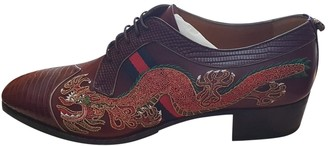 Gucci Queercore Burgundy Leather Lace ups