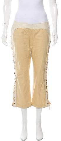 Alexander McQueen Mid-Rise Lace-Up Pants