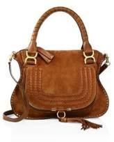 Chloé Marcie Medium Double Carry Suede Bag
