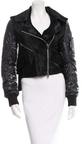 Alexander Wang Ponyhair Biker Jacket