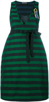 Rochas striped flared dress - women - Silk/Cotton/Polyester - 40
