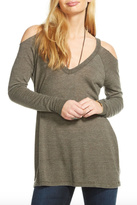 Chaser Cold Shoulder Raglan V Neck