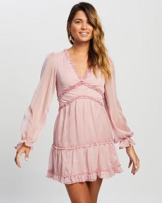 Atmos & Here Atmos&Here - Women's Pink Mini Dresses - Alivia Ruffle Mini Dress - Size 6 at The Iconic