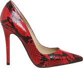 Office Betty snake-embossed leather courts