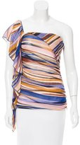 Missoni Ruffle-Trimmed One-Shoulder Top