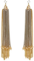 Natasha Accessories Crystal Tassel Earrings
