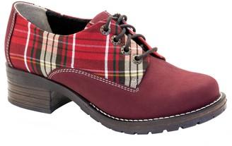 Dromedaris Nubuck Lace-Up Shoes - Kaley Tartan
