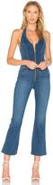 Joe's Jeans Halter Flare Jumpsuit