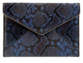 Rebecca Minkoff Sunday Leo Envelope Clutch - Blue
