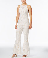 Material Girl Juniors' Lace Flare-Leg Jumpsuit, Only at Macy's