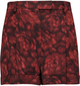 Valentino Printed cotton and silk-blend shorts