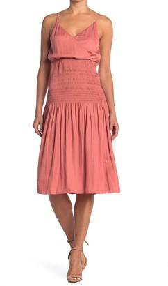 Do & Be V-Neck Smocked Midi Dress