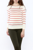 Cupcakes & Cashmere Striped Pullover Sweater