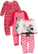 Children's Apparel Network Pink & Red Minnie Mouse Playsuit Set - Infant