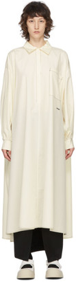 Sunnei Off-White Puffy Sleeve Long Shirt Dress