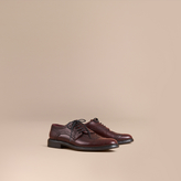 Burberry Leather Brogues with Asymmetric Closure