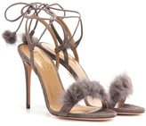 Aquazzura Wild Russian 105 Suede Sandals