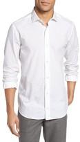 Eleventy Men's Tonal Jacquard Weave Sport Shirt