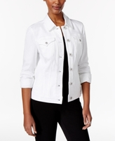 Style&Co. Style & Co Style & Co Petite Denim Bright White Wash Jacket, Created for Macy's