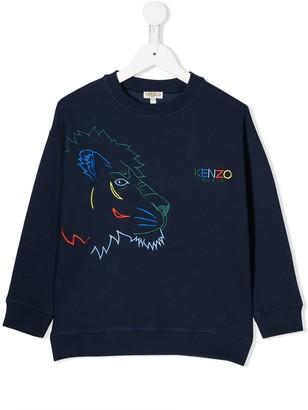 Kenzo Kids Tiger and friends sweatshirt