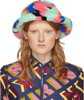Cloche Kirin Green Faux-Fur Hat