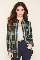 Forever 21 FOREVER 21+ Plaid Button-Front Shirt