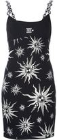 Fausto Puglisi embellished strap sun intarsia dress