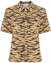REJINA PYO short sleeve tiger stripe shirt