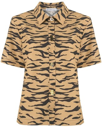 REJINA PYO Short Sleeve Tiger Stripe Shirt