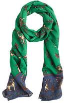 Drakes Drake's® wool unicorn scarf