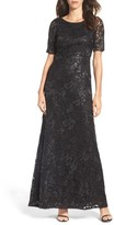 Adrianna Papell Women's Sequin & Tulle Gown