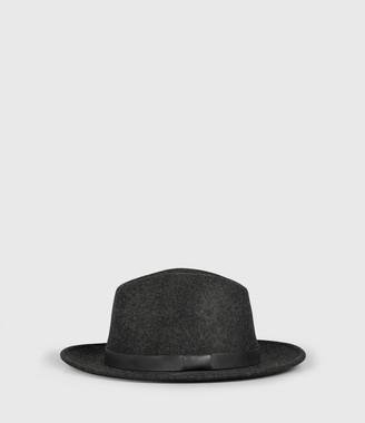 AllSaints Bronson Leather Fedora