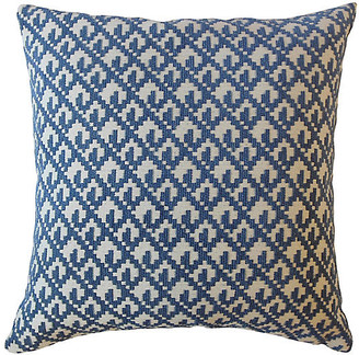 One Kings Lane Serra 18x18 Pillow - Denim