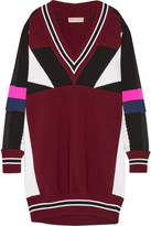 Emilio Pucci Oversized Color-block Merino Wool Sweater Dress - Burgundy