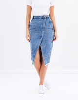 One Teaspoon Blue Society Wrap Skirt
