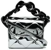Marques Almeida Marques'almeida Silver quilted chain box bag