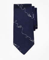 Brooks Brothers Novelty Paper Airplaine Silk Tie