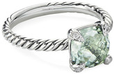 David Yurman Chatelaine Cushion Ring with Diamonds, Size 5-7