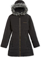 Calvin Klein Everest Puffer Jacket with Faux Fur Trim, Big Girls (7-16)