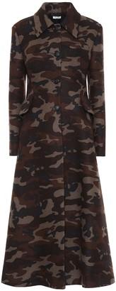 Miu Miu Camo-print wool-blend coat
