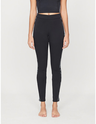 Wolford Johanna floral-print high-rise stretch-jersey leggings