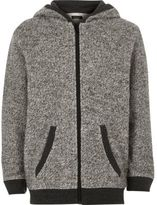River Island Boys grey soft zip up hoodie