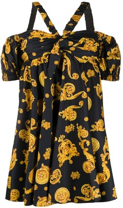 Versace Halter Neck Floral Print Dress