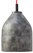 """The Industrial Shop Concrete Pendant Lamp - Grey/Red (7x9"""") The Industrial Shop"""