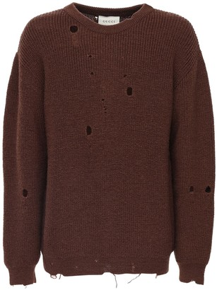 Gucci Destroyed Wool Knit Sweater