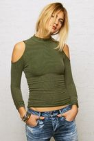 American Eagle Outfitters Don't Ask Why Cold Shoulder Mock Neck Top