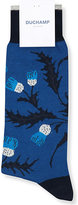 Duchamp Thistle floral cotton-blend socks
